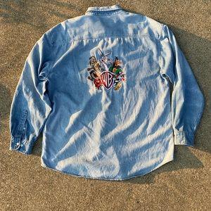 Looney Tunes Embroidered Vintage Jean jacket.
